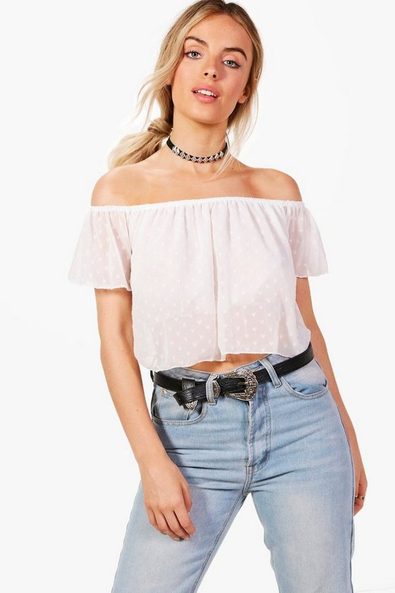 Emery Gypsy Off The Shoulder Crop Top