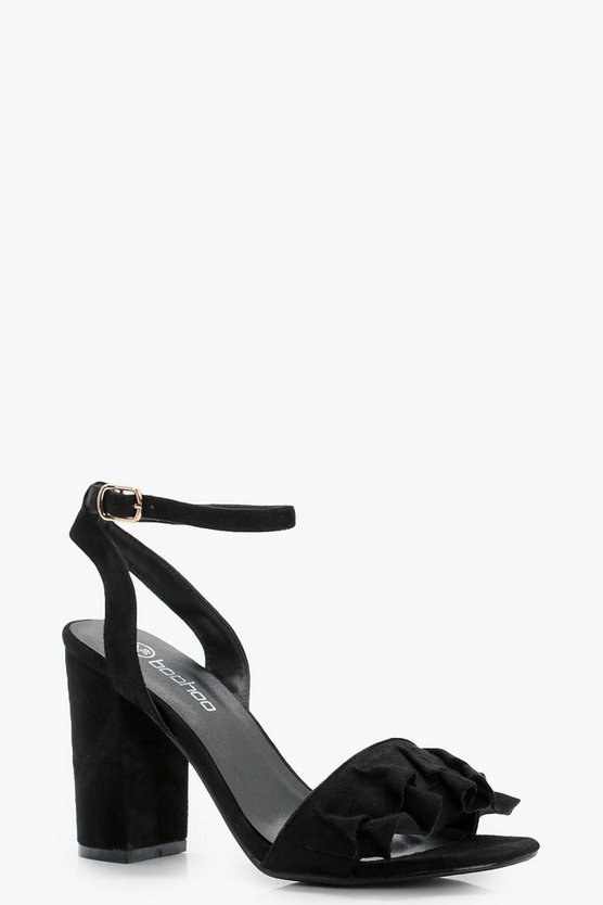 Holly Wide Fit Frill Detail Block Heels