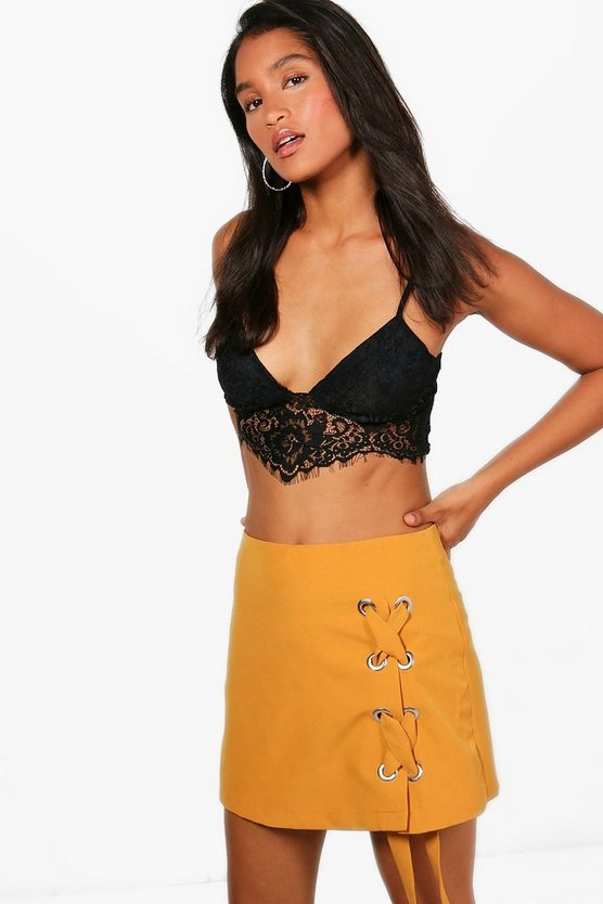 Leanne Large Eyelet Lace Up Skort