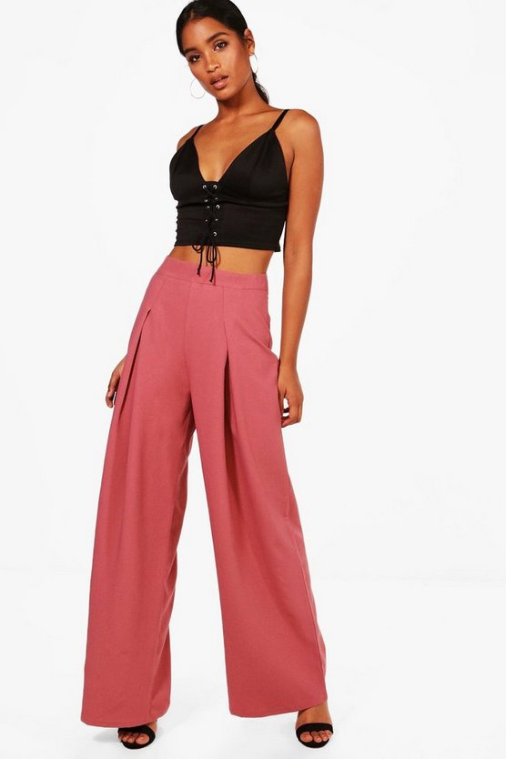 Emily Pleat Front Wide Leg Trouser