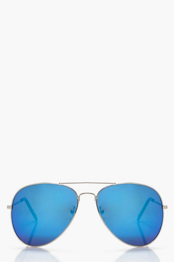 Laila Light Blue Lens Aviator Sunglasses