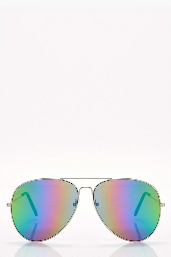 Nancy Rainbow Lens Aviator Sunglasses