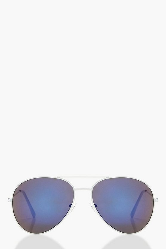 Ella Blue Lens Aviator Sunglasses