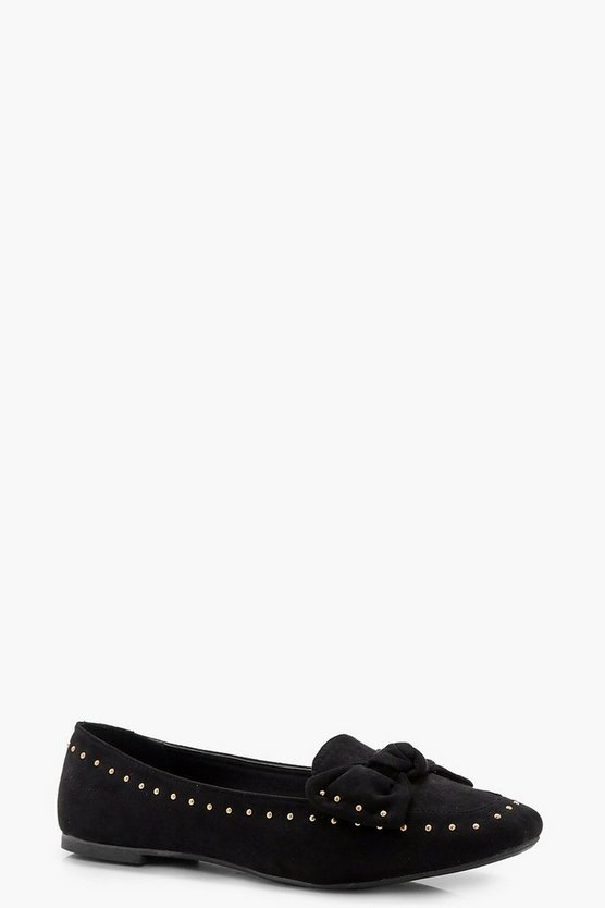 Faith Bow & Stud Trim Loafer