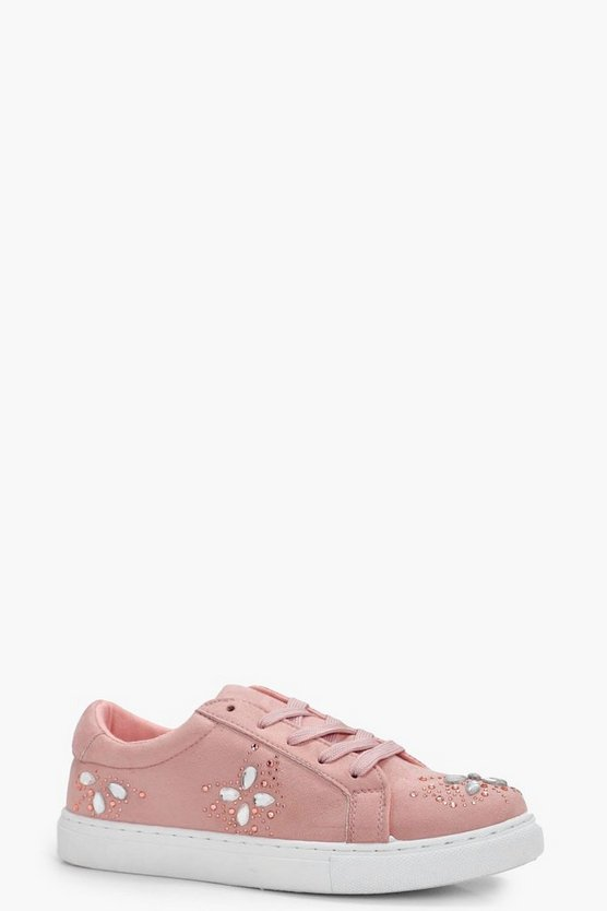 Eleanor Embellished Lace Up Trainer