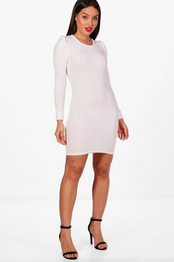 Julia Puff Sleeve Bodycon Dress