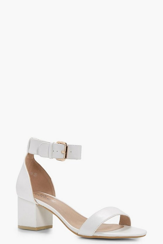 Erin Ankle Band Low Block Heel 2 Parts