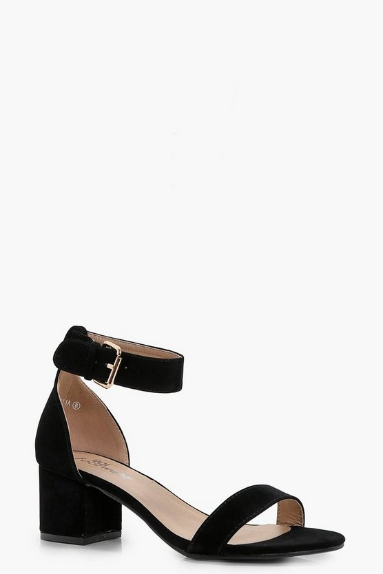 Abigail Ankle Band Low Block Heel 2 Parts