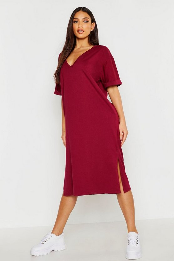 Oversized Midi T-Shirt Dress