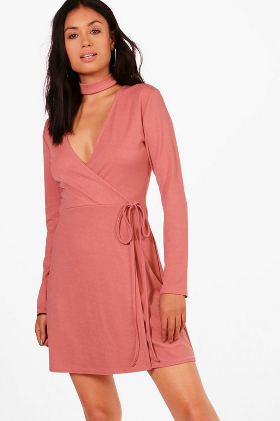 Bella Choker Wrap Dress