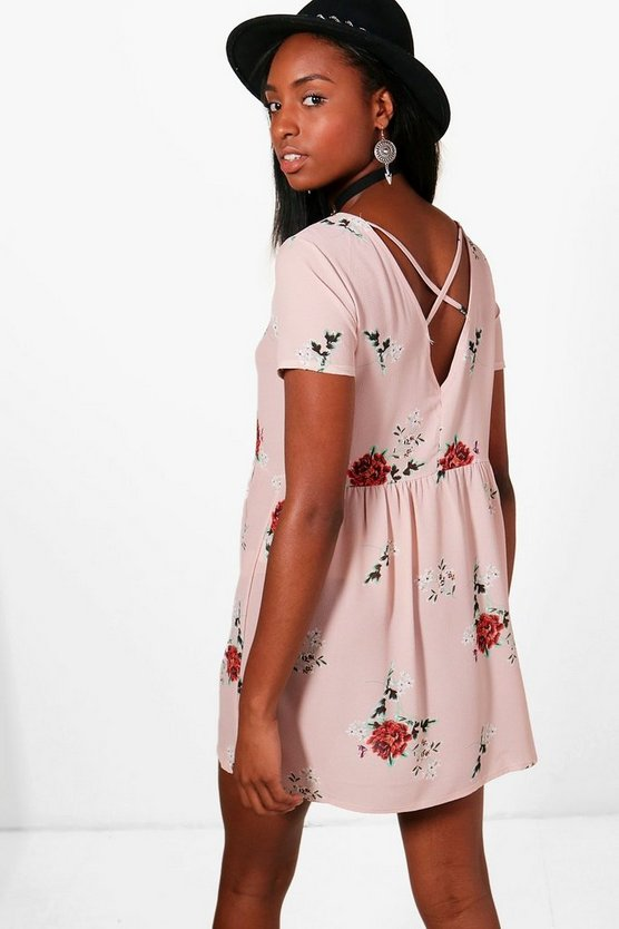 Joanna Cross Back Smock Dress