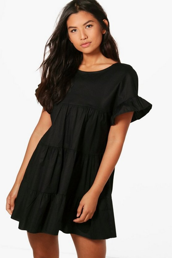 Olivia Tiered Ruffle Smock Dress