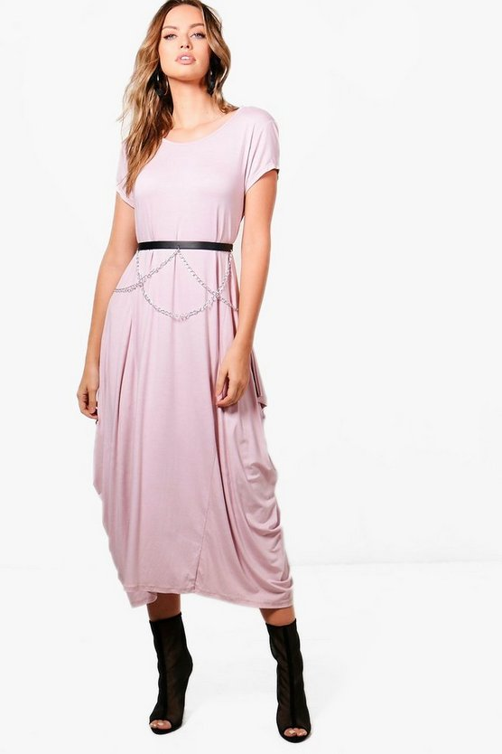 Kara Cap Sleeve Jersey Oversized Maxi Dress