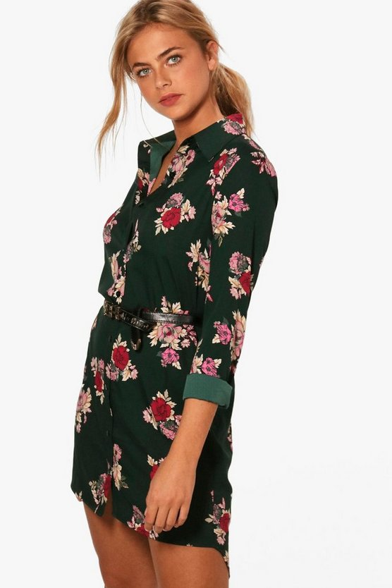 Effy Floral Printed Shirt Dress
