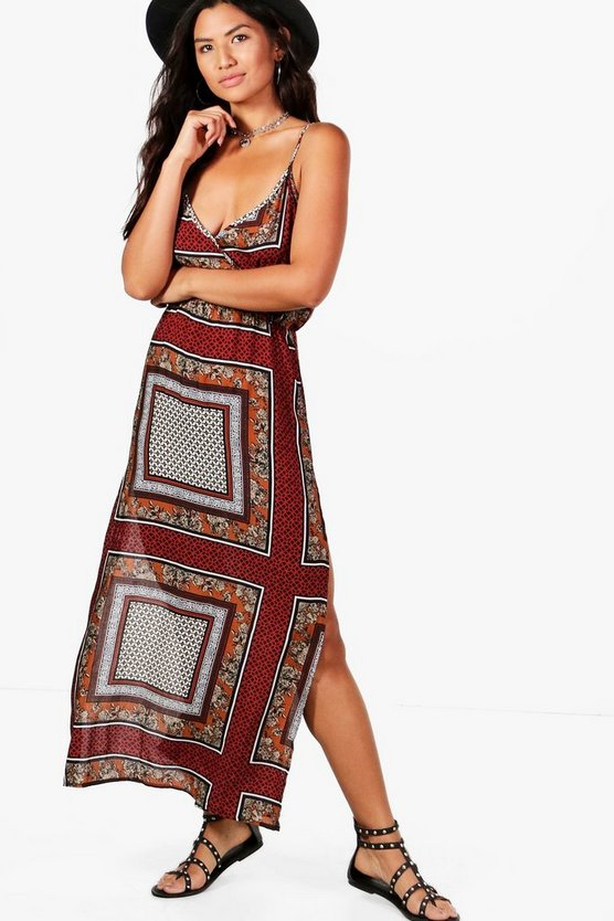 Georgia Racer Front Splitside Maxi Dress