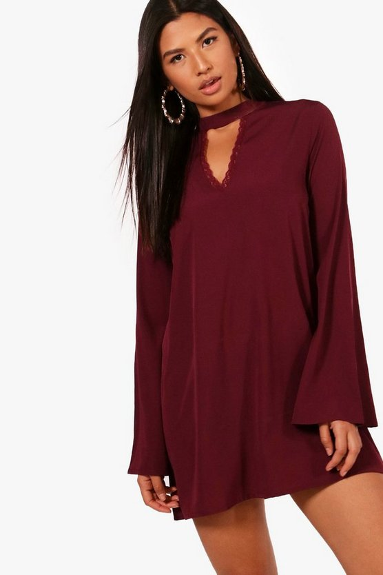Indi Choker Lace Detail Shift Dress