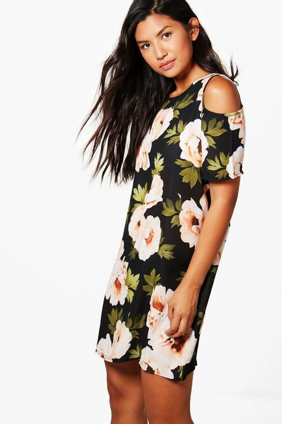 Tilly Cold Shoulder Floral Shift Dress