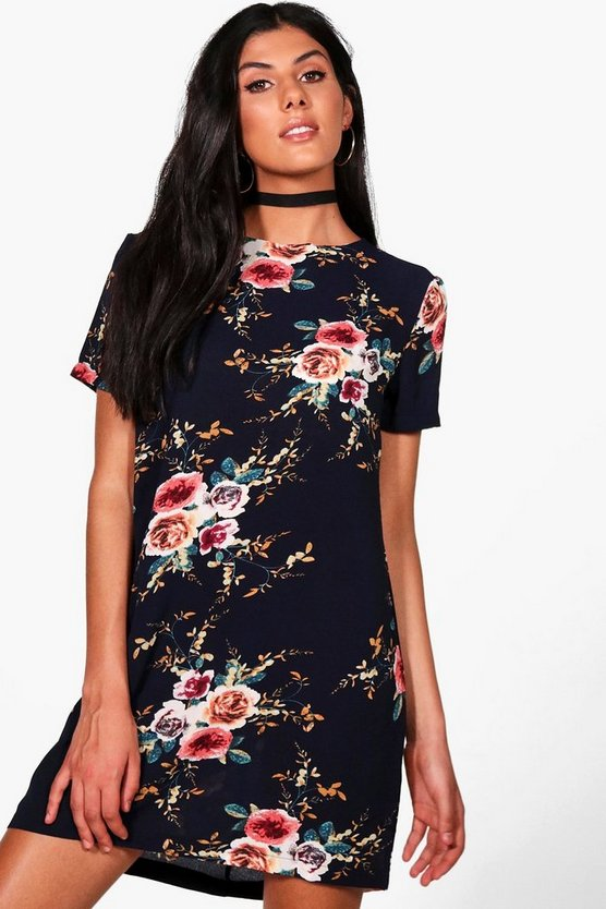 Lucie Floral Cap Sleeve Shift Dress