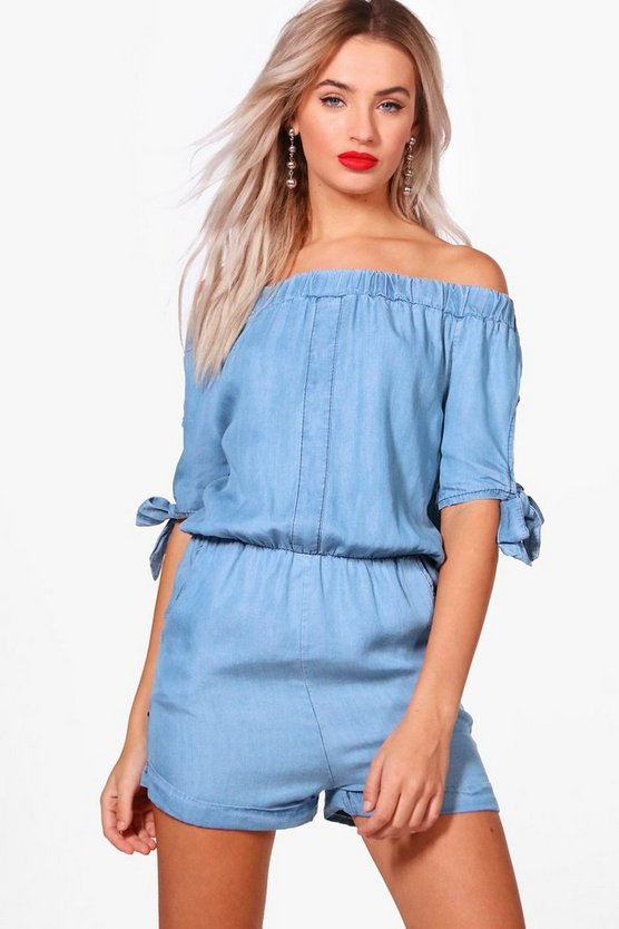 Tie Shoulder Playsuit