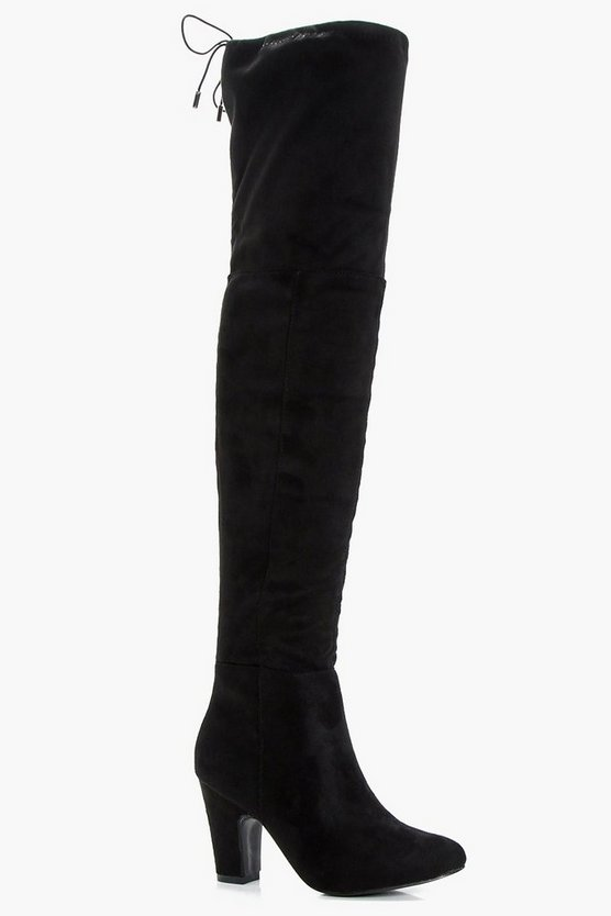 Trina Mid Heel Over the Knee Boots