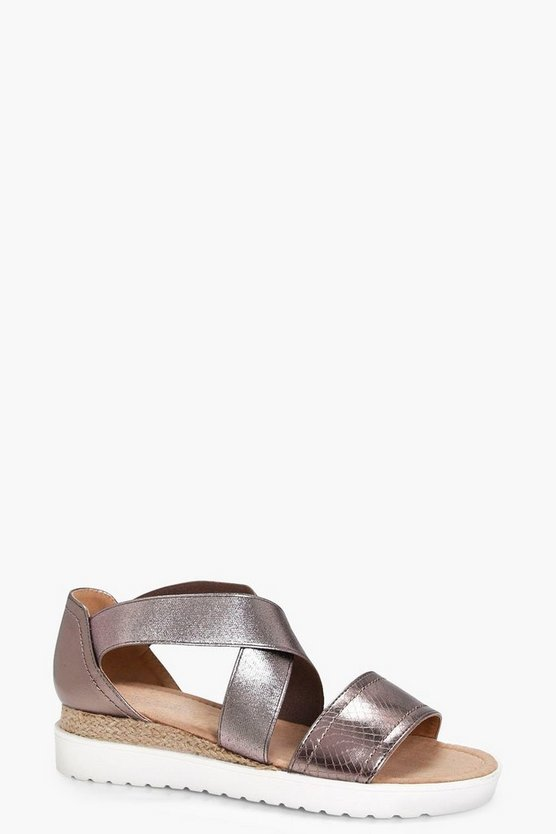 Ellie Elastic Strap Cleated Sandal