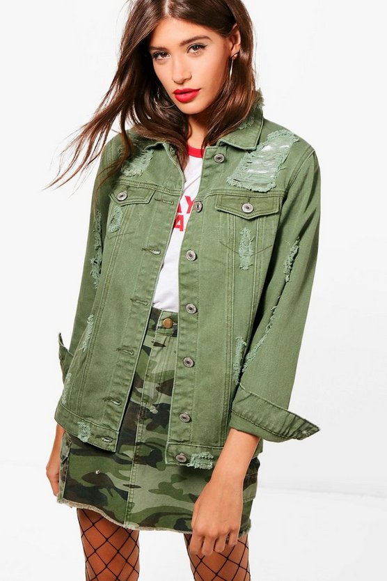 Lucy Longline Distressed Jacket