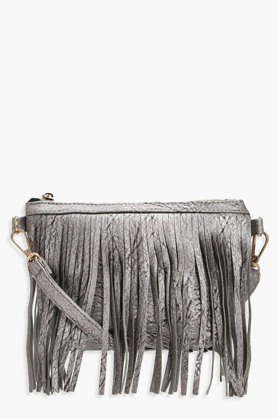 Hannah Fringe Layer Cross Body