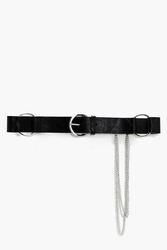 Zoe Large O-Ring Chain Detail Belt