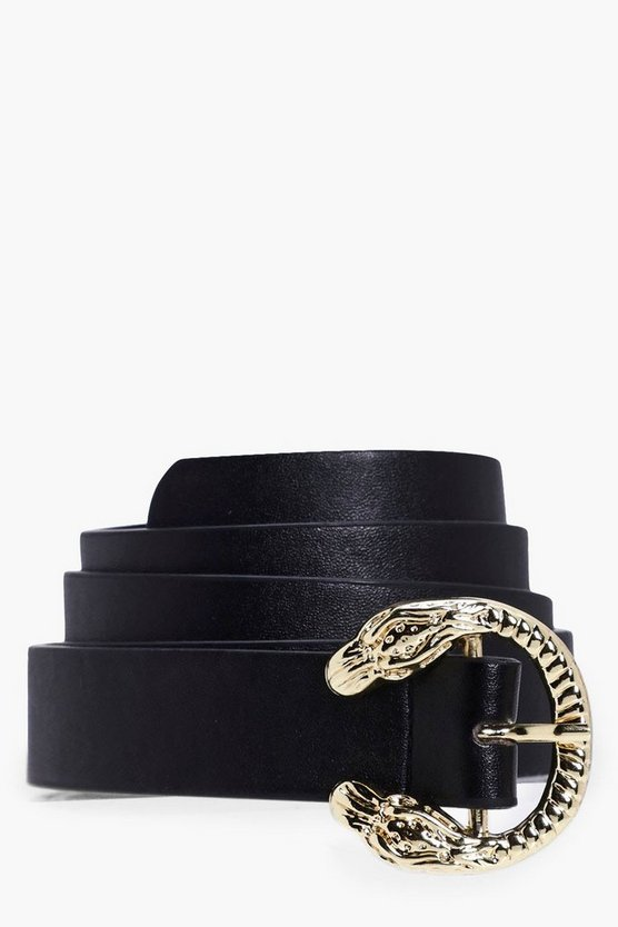 Lexi Snake Buckle Boyfriend Belt