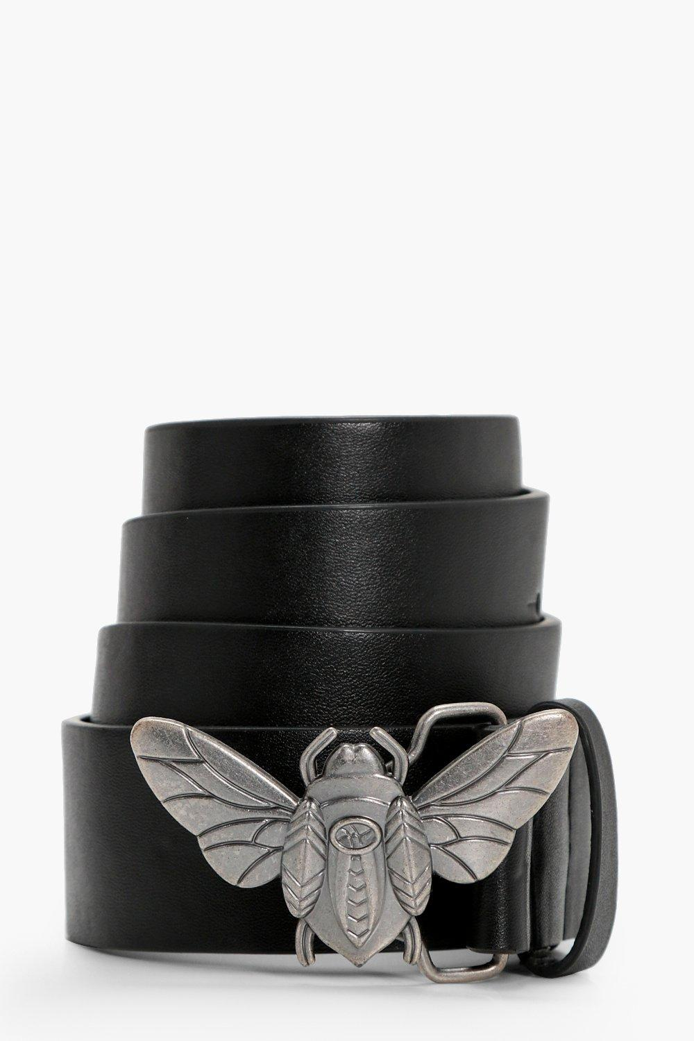 Bug Buckle Boyfriend Belt - black - Kirsten Bug Bu