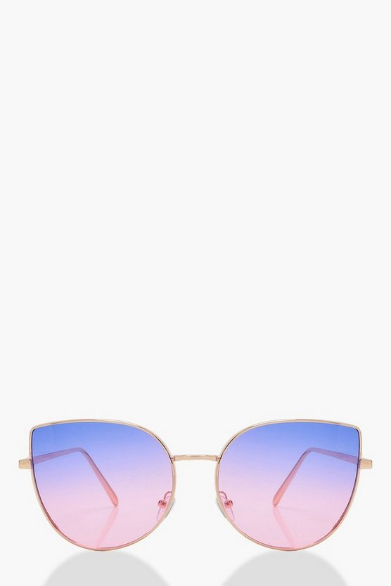 Kirsten Lilac Ombre Lens Cat Eye Sunglasses