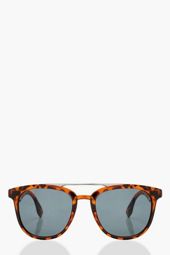 Heather Tortoiseshell Brow Bar Sunglasses