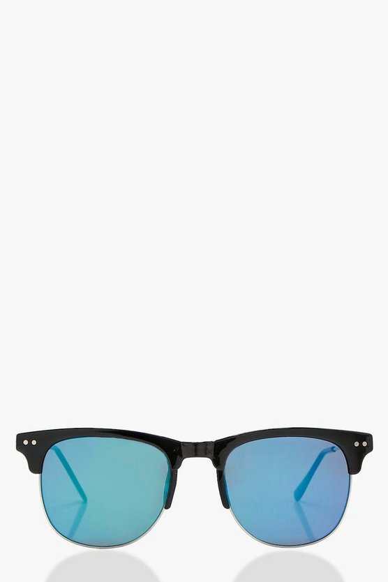 Lucy Blue Mirrored Lens Sunglasses