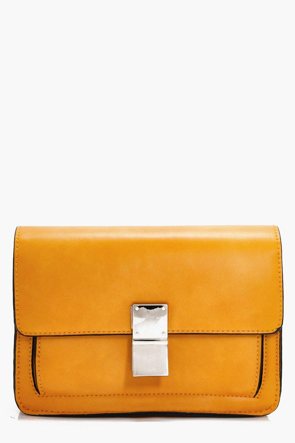 Guitar Strap Detail Cross Body Bag - mustard - Dai