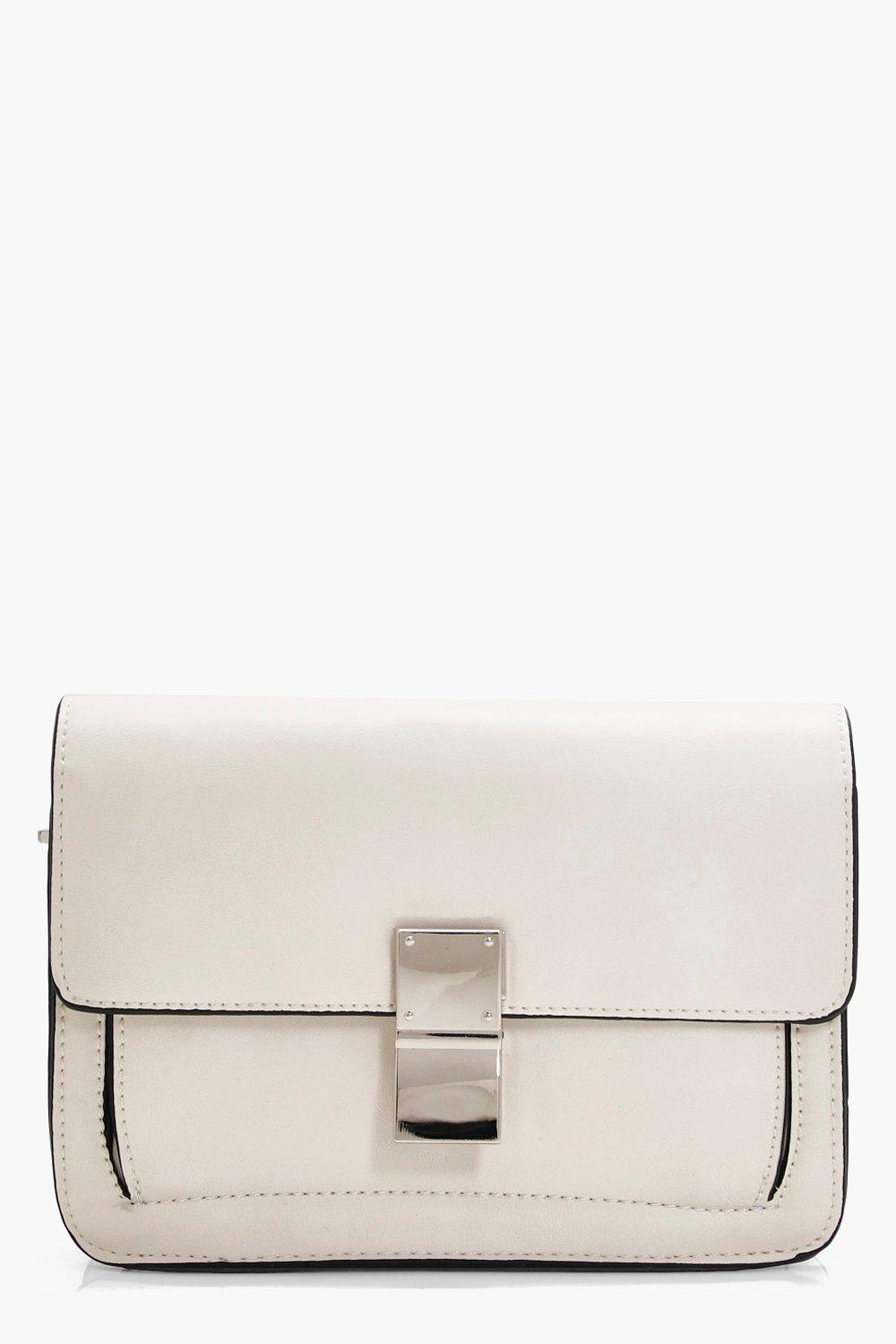 Guitar Strap Detail Cross Body Bag - white - Daisy