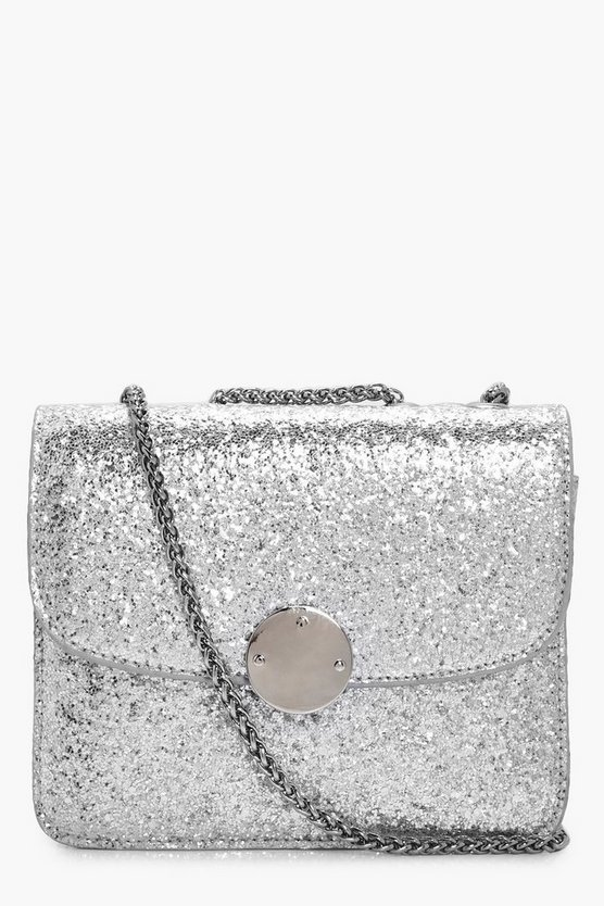 Ella Sequin Metal Clasp Cross Body Bag