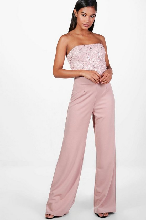 Gemma Boutique Wide Leg Sequin Jumpsuits