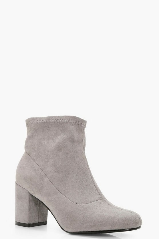Megan Block Heel Sock Boot