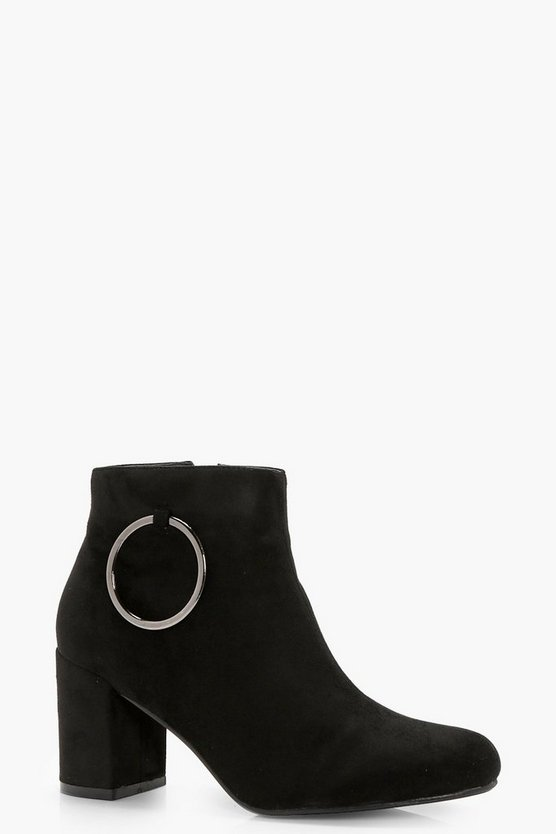 Marie O Ring Detail Block Heel Shoe Boot
