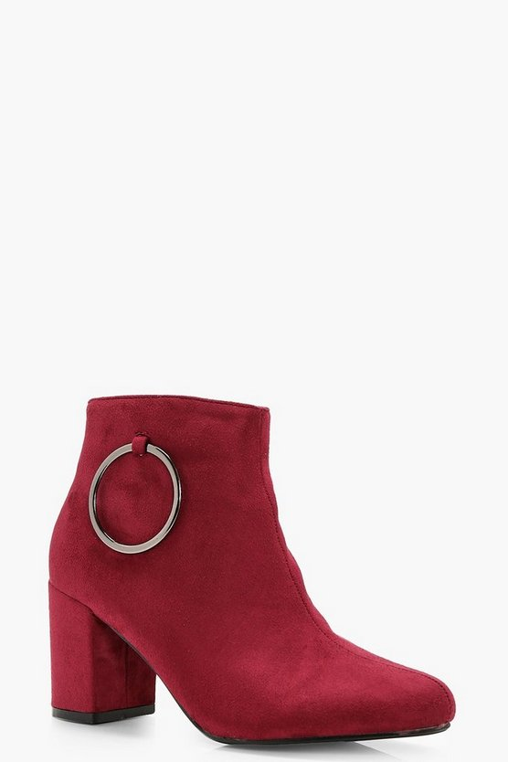 Marie O Ring Detail Block Heel Shoe Boots