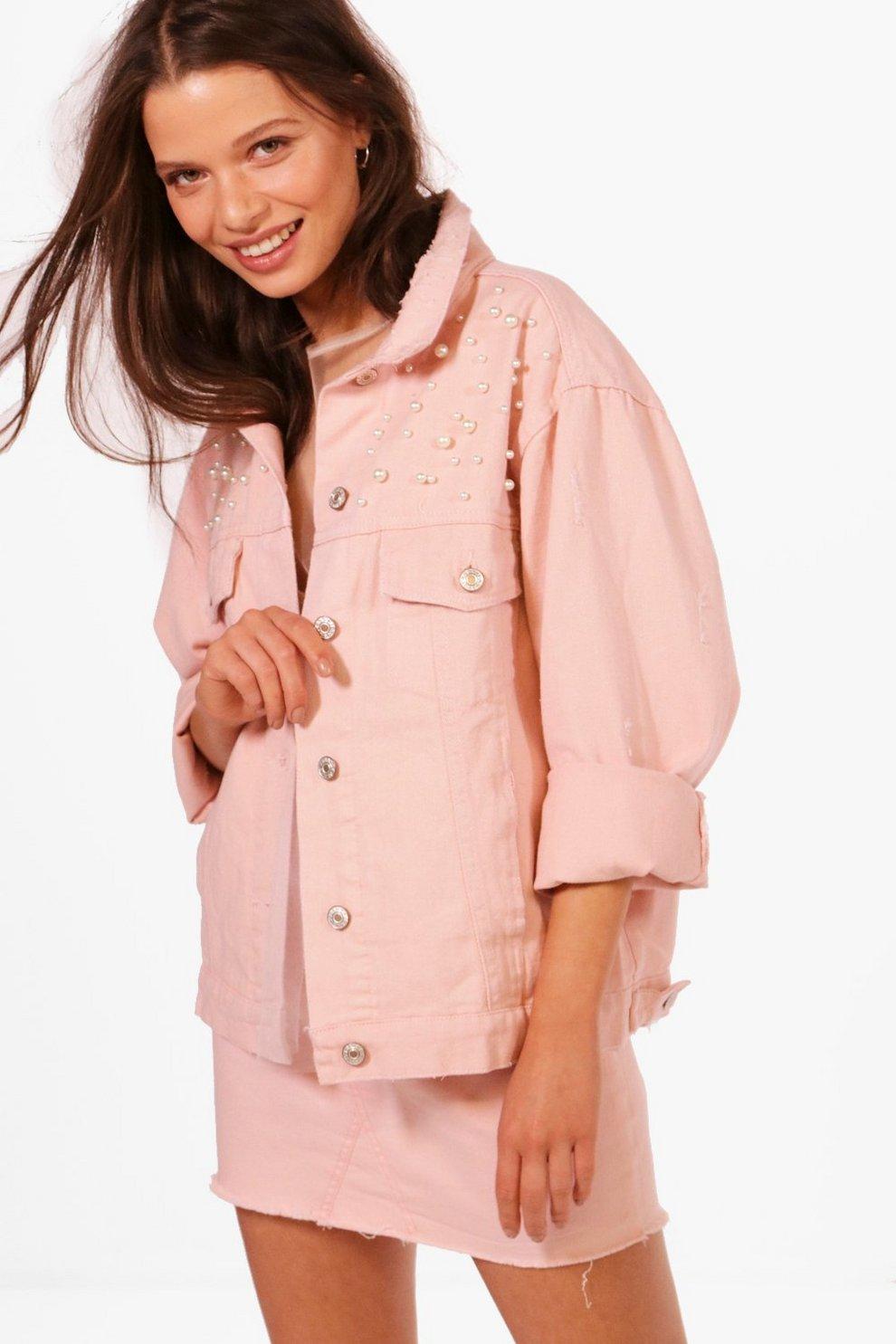 Girls Embellished Denim Jacket