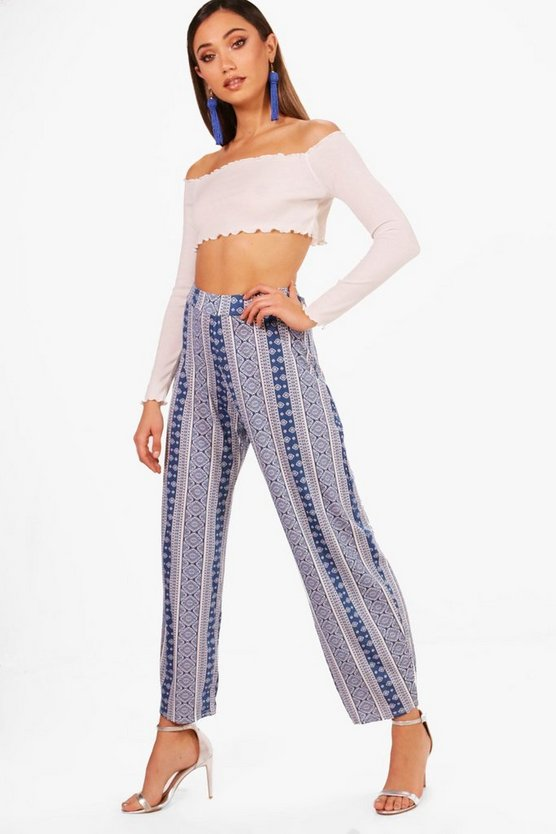 Freya Printed Jersey Relaxed Joggers