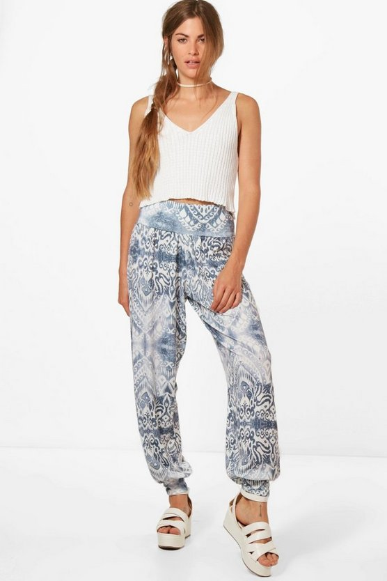 Laura Bohemian floral Jersey Harem Trousers