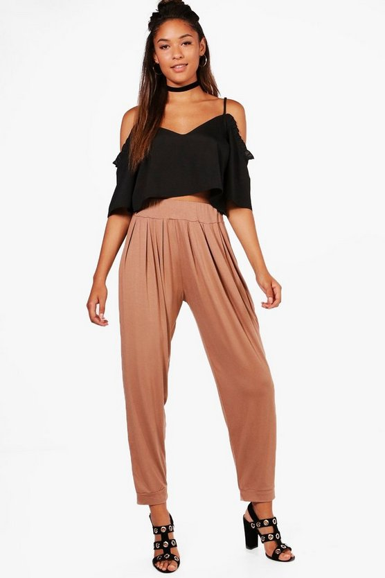 Lola India Pleat Front Jersey Hareem Trouser