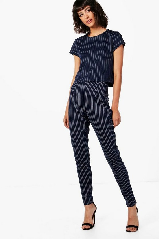 Paige Pinstripe Tapered Trouser