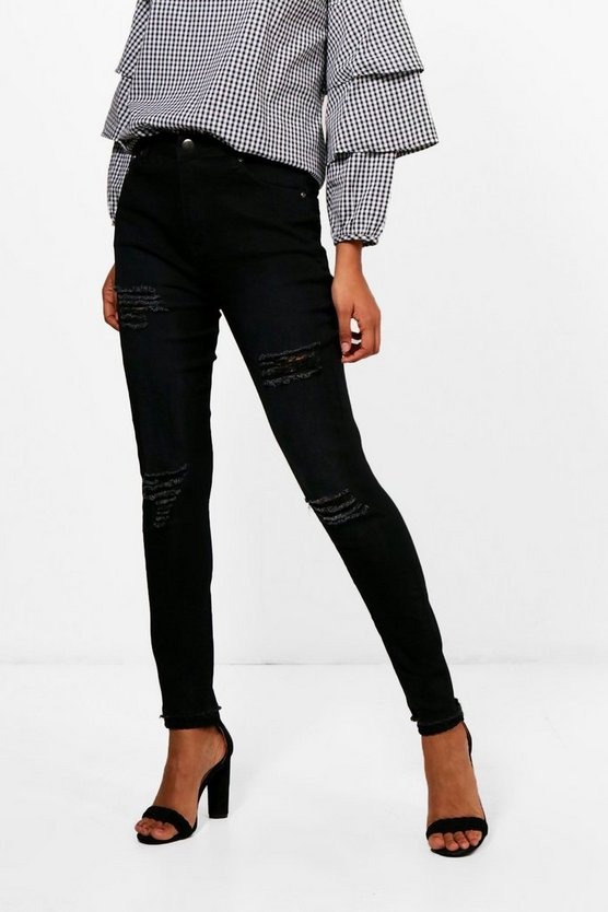 Cheeky Rip High Rise Skinny Jeans