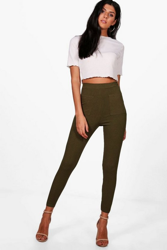 Bonnie Ribbed Pocket Back High Waist Leggings