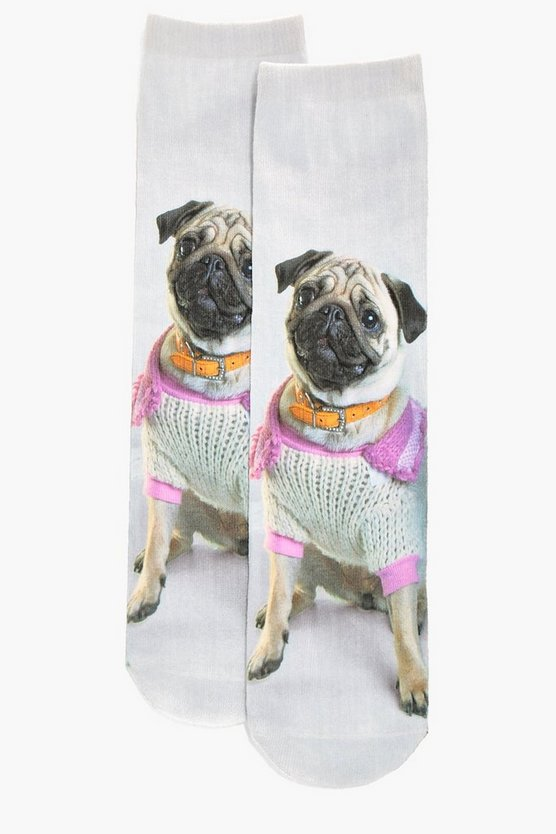 Pug Digital Printed Socks