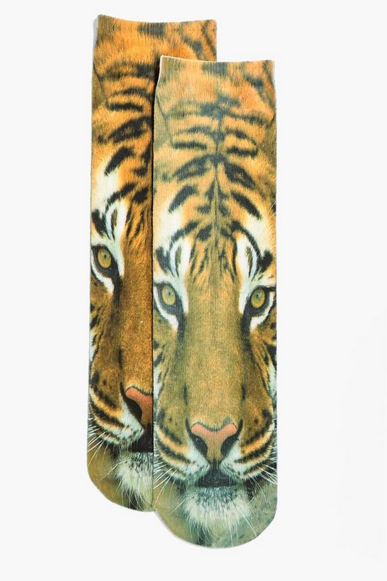 Tiger Digital Print Sock