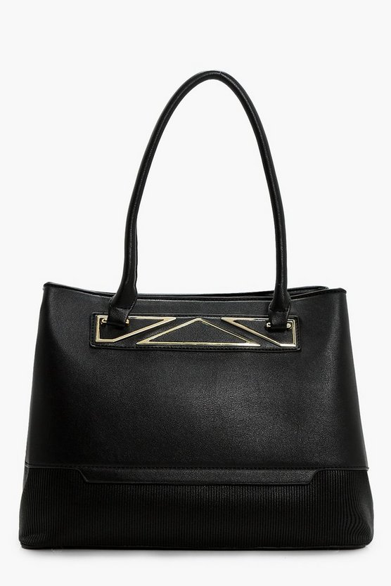 Charlotte Metal Detail Tote Bag